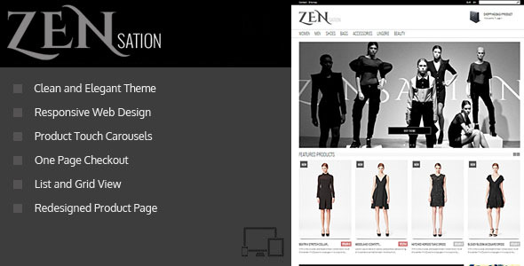 ZENsation - Responsive Prestashop Theme + BLOG