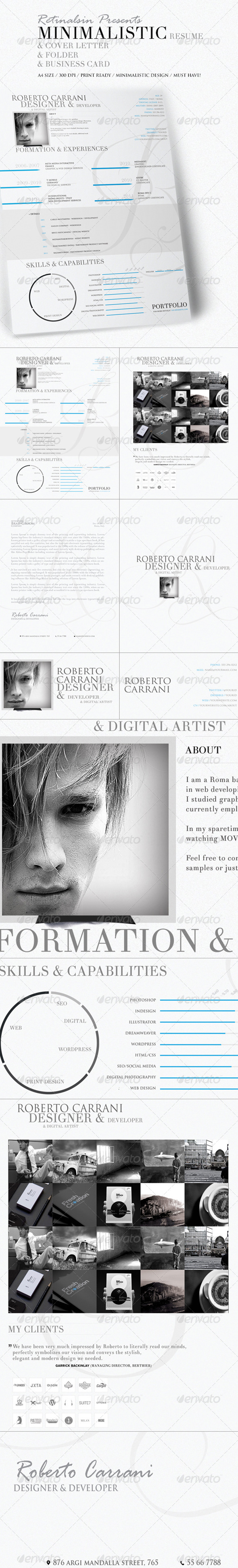 GraphicRiver Minimalistic Resume & Cover Letter 6436895