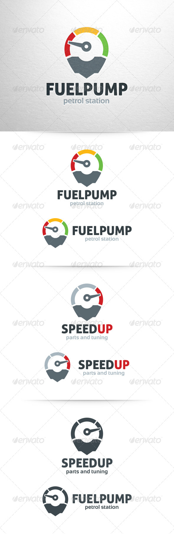 GraphicRiver Fuel Pump Speed Up Logo 6470127