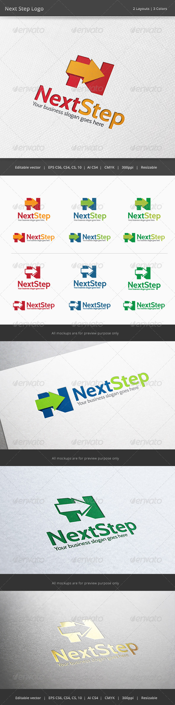 GraphicRiver Next Step N Letter Logo 6470602