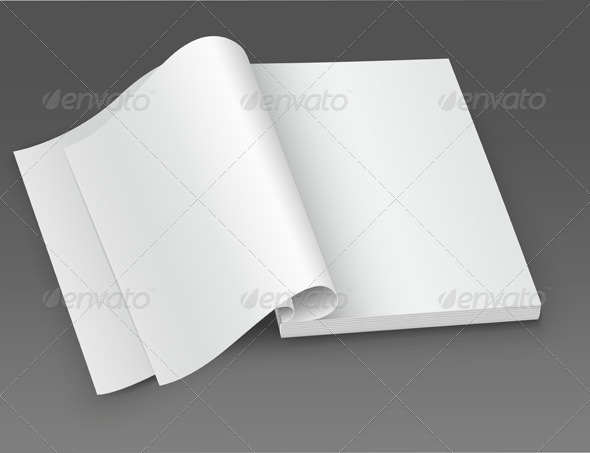 GraphicRiver White Blank Open Magazine 6470983