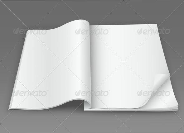 GraphicRiver White Blank Open Magazine 6471035