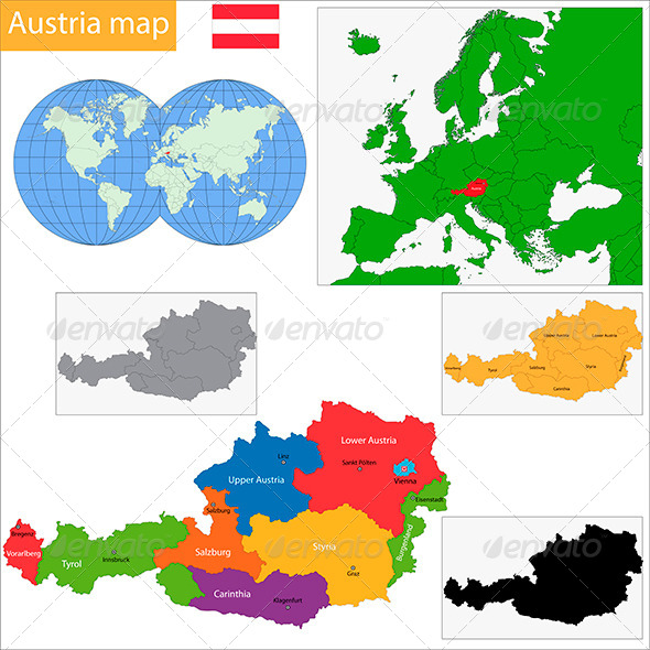 GraphicRiver Austria Map 6472267