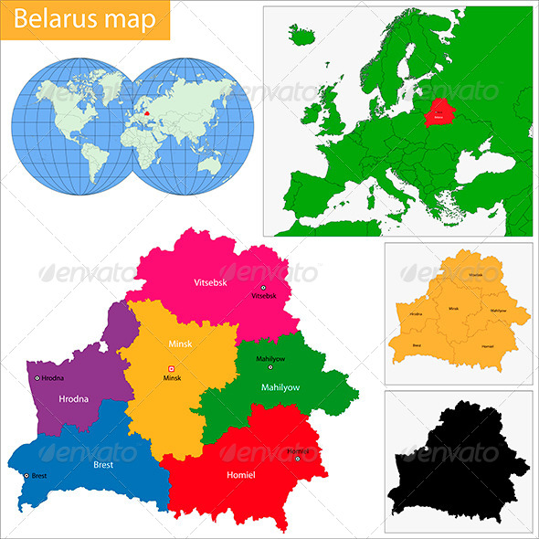 GraphicRiver Belarus Map 6472272
