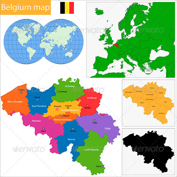 GraphicRiver Belgium Map 6472273
