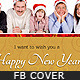 Happy New Year Wishing Facebook Timeine Cover Pack - GraphicRiver Item for Sale