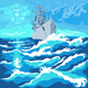 Seascape with Warship - GraphicRiver Item for Sale