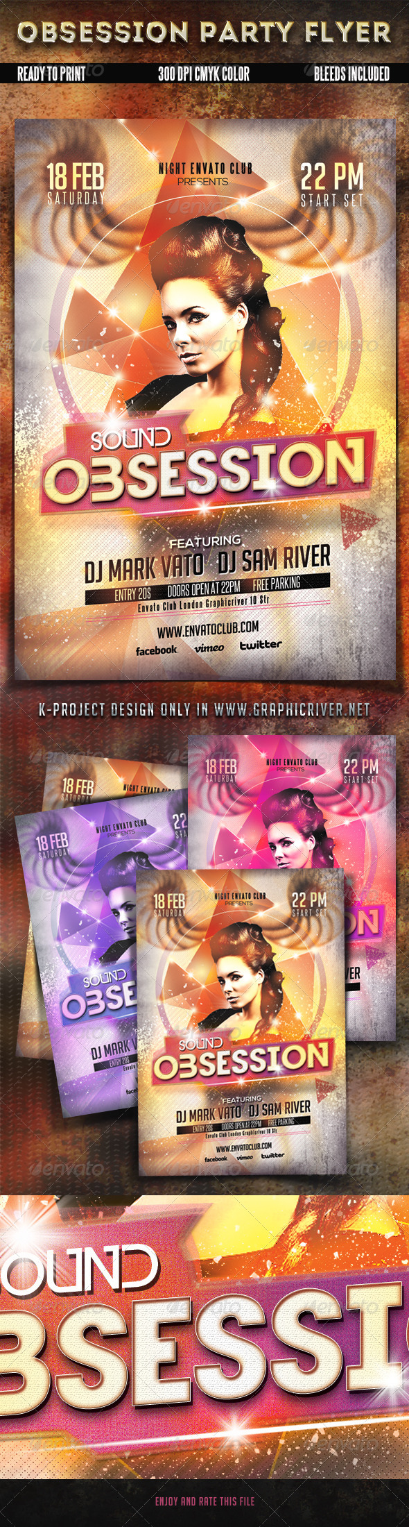 GraphicRiver Obsession Party Flyer 6474014