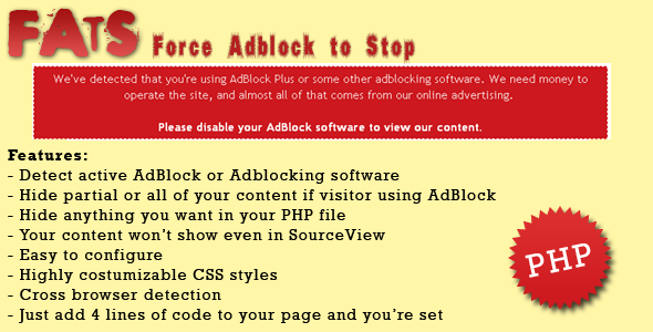 CodeCanyon FATS Force Adblock To Stop 6413372