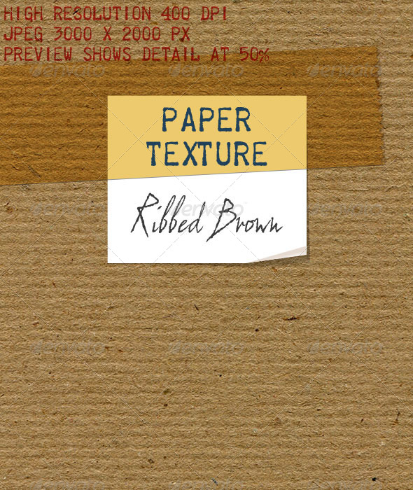 GraphicRiver Brown Paper Laid Ribbed Recycled Paper 6474808