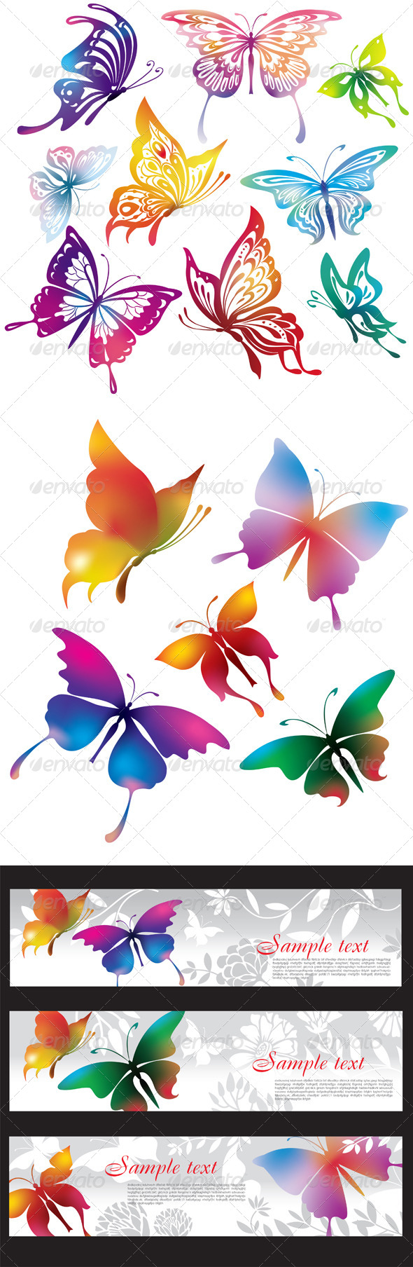 GraphicRiver Butterflies 6474952