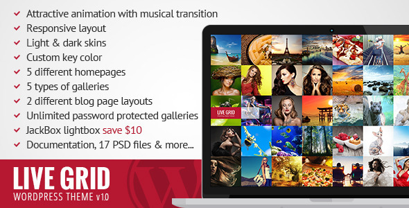 ThemeForest LIVE GRID Responsive Interactive Wordpress Theme 6341666