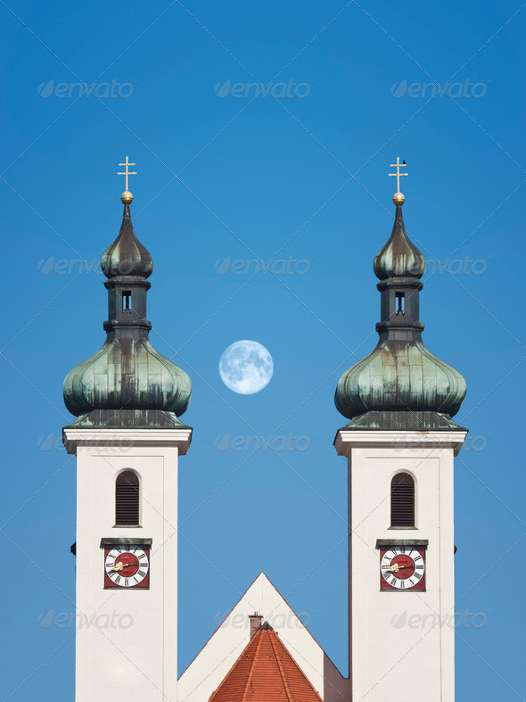 church of Tutzing - Stock Photo - Images