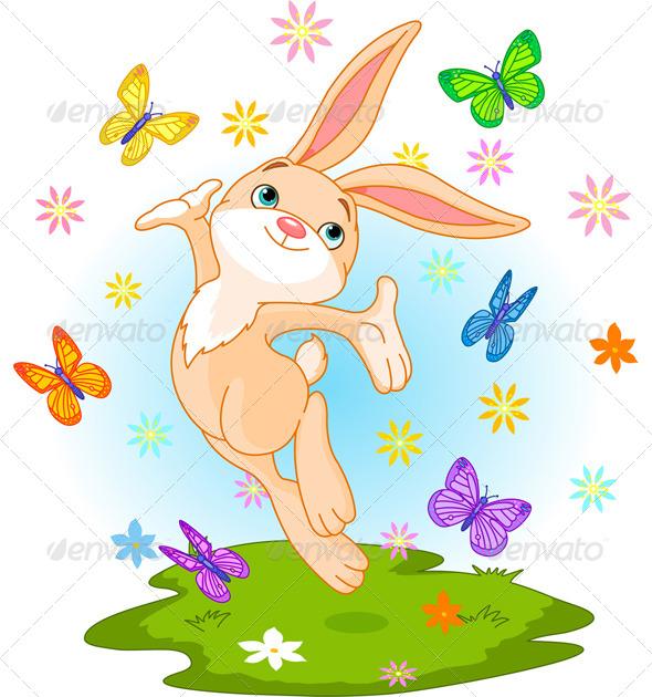 GraphicRiver Spring Bunny 6475816