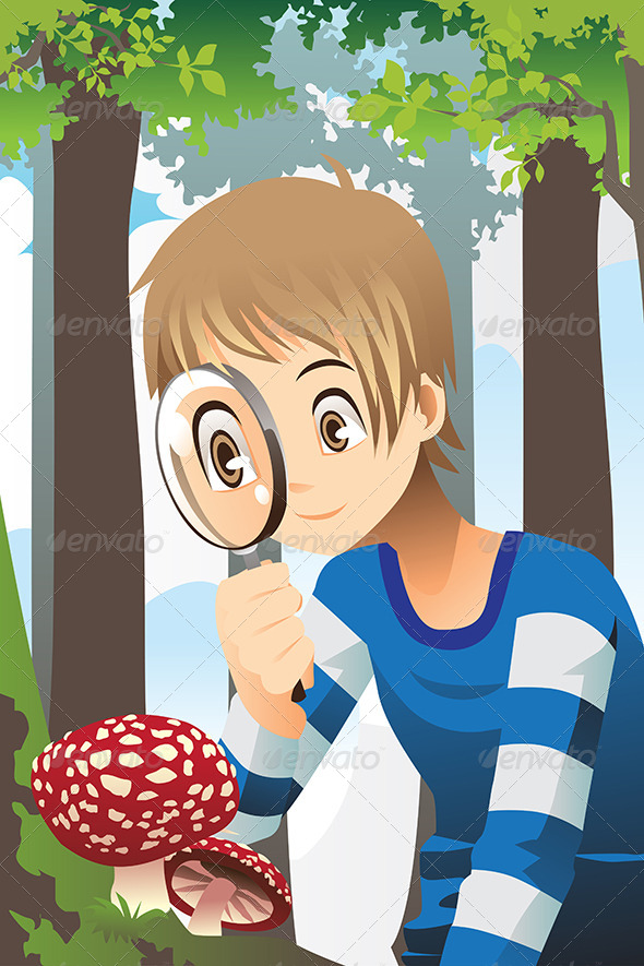 GraphicRiver Boy with Magnifying Glass 6476106