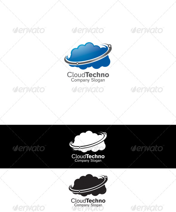 Cloud Techno Logo - Symbols Logo Templates