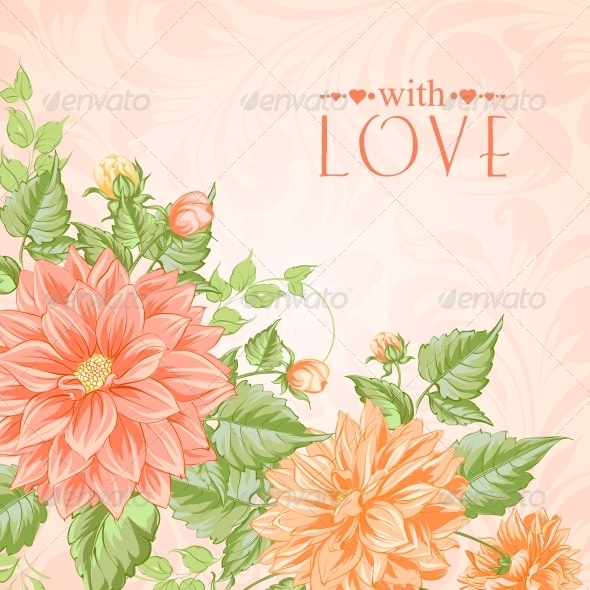 GraphicRiver Chrysanthemum Holiday Card 6477004