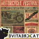 Vintage Motorcycle Flyer/Poster Vol. 8 - GraphicRiver Item for Sale
