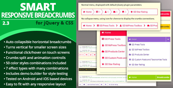 Smart Responsive Breadcrumbs - CodeCanyon Item for Sale