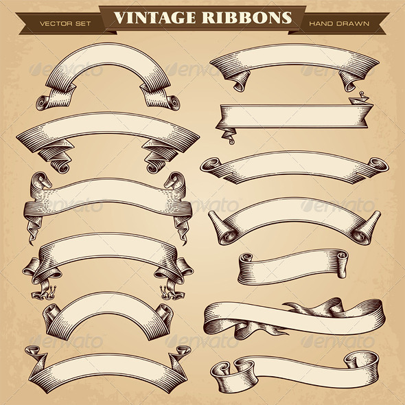 GraphicRiver Vintage Ribbon Banners Vector 6477643