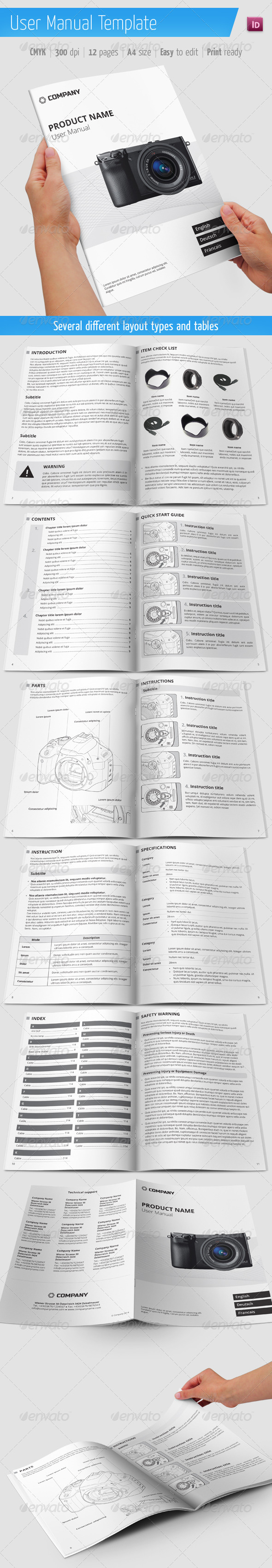 User Manual Template - Informational Brochures