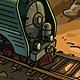 Steam Locomotive and Rabbit - GraphicRiver Item for Sale