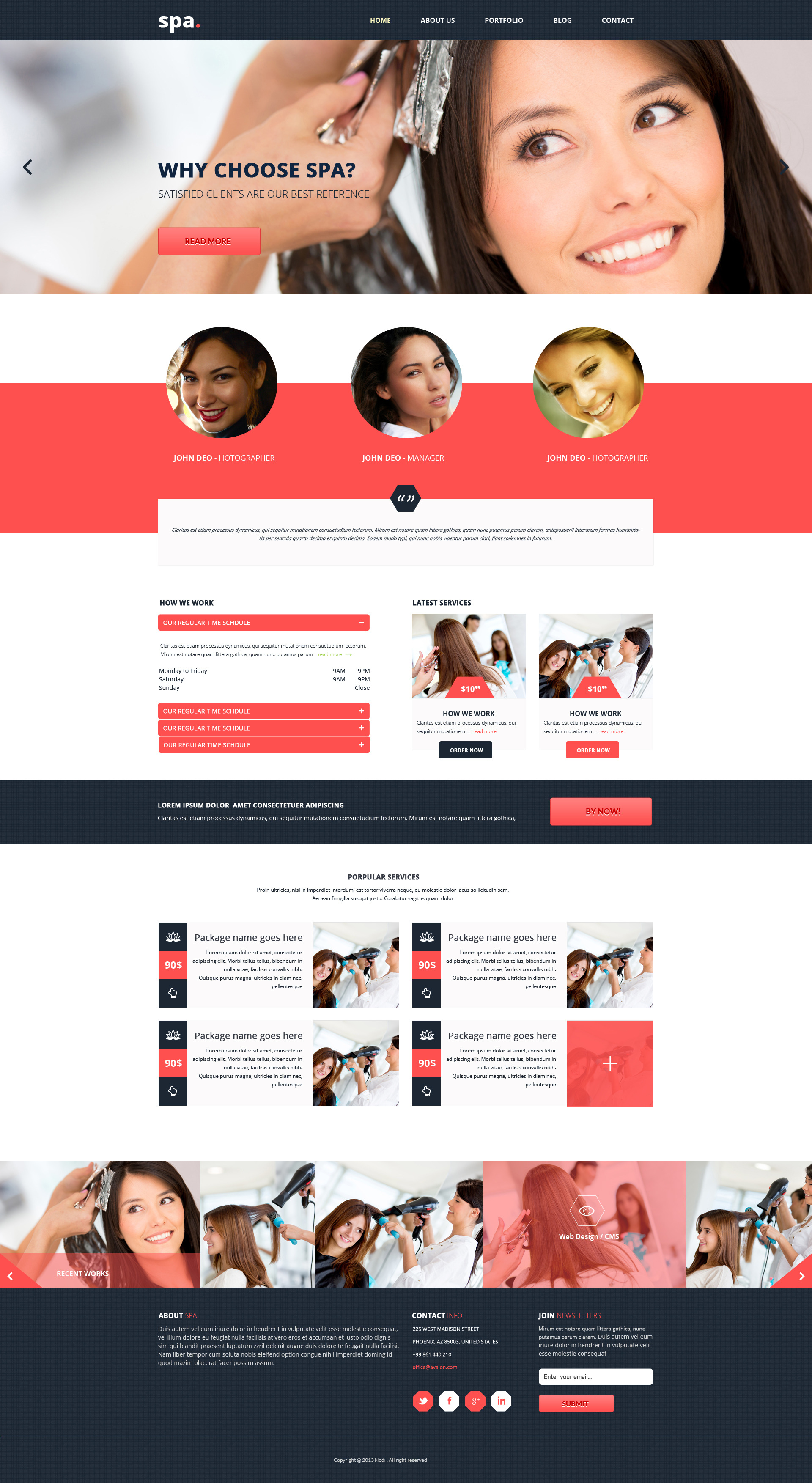 SPA- Saloon and GYM PSD Template