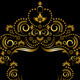 Ornamental Gold Frame in Oriental Style - GraphicRiver Item for Sale