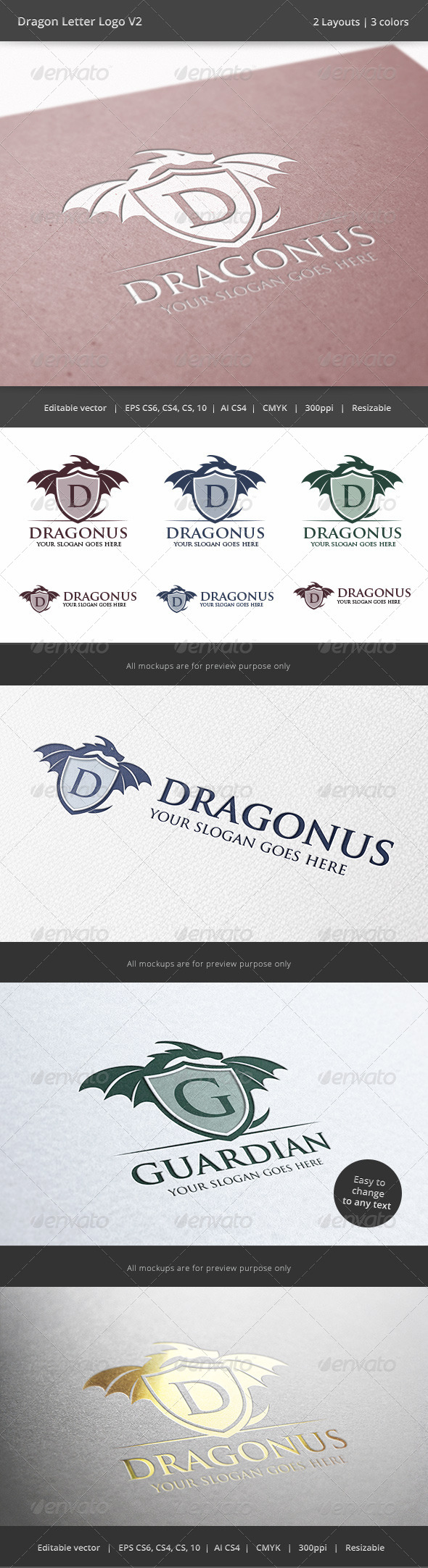 GraphicRiver Dragon Letter V2 Logo 6478228