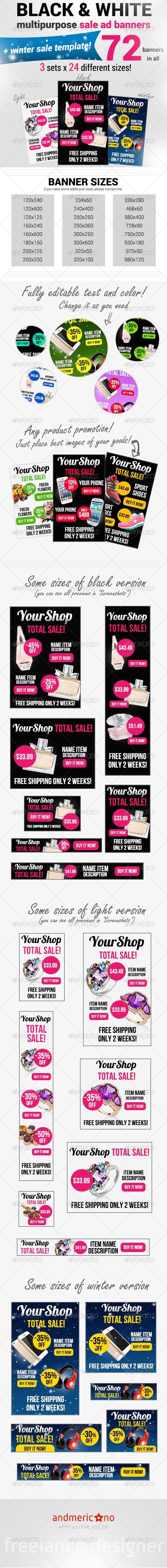 GraphicRiver Premium Sale Banners Mega Pack 6478428