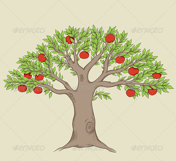 GraphicRiver Apple Tree 6479259