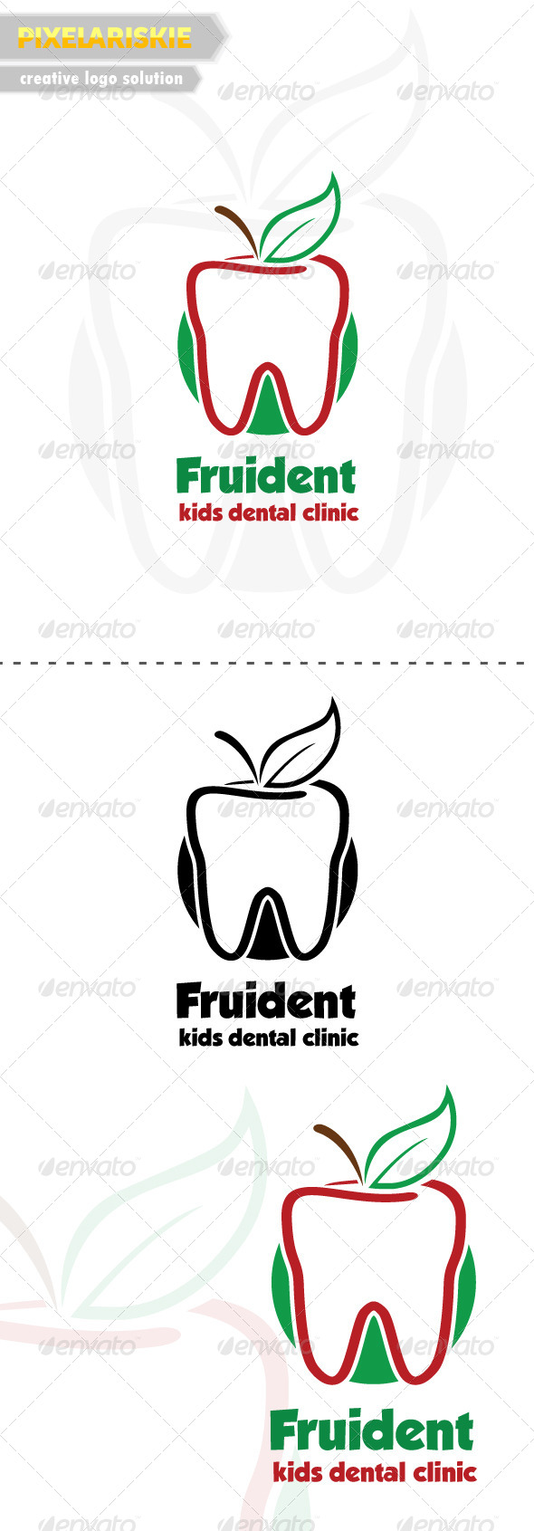 GraphicRiver Fruident Kids Dental Logo 6479319