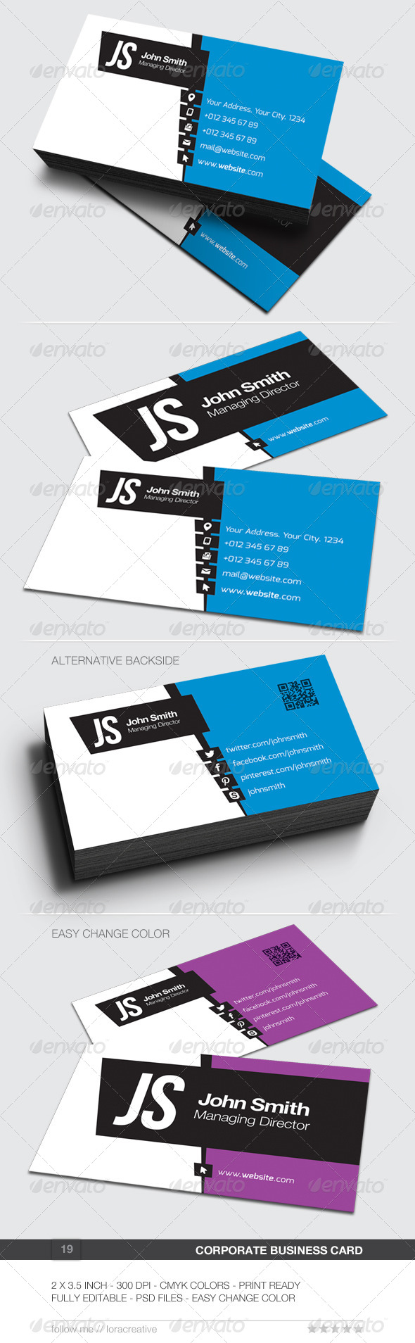 GraphicRiver Corporate Business Card 19 6480066