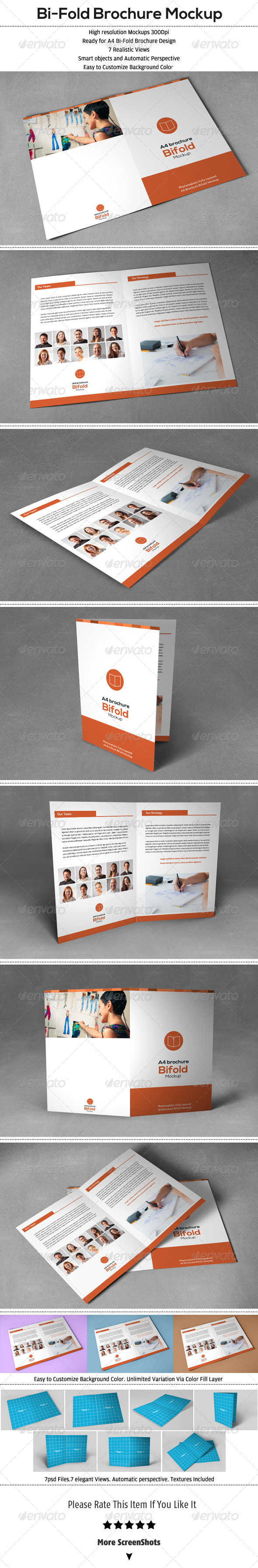 GraphicRiver Bi-Fold Brochure Mock-Up 6480474