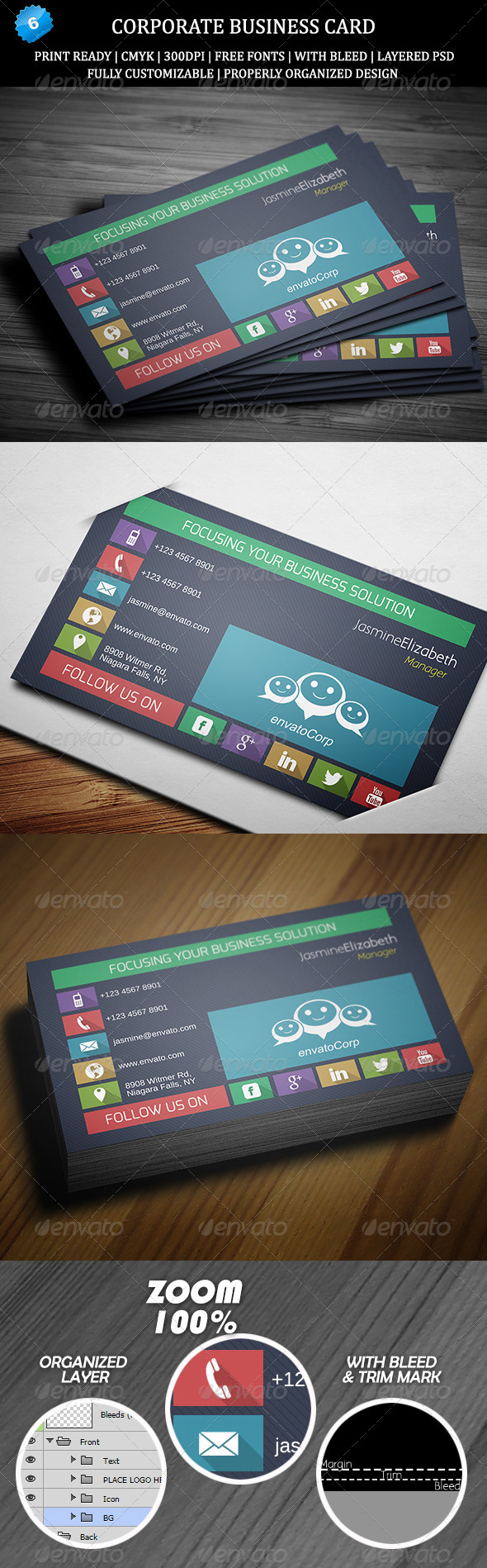 GraphicRiver Corporate Business Card 6 6480911