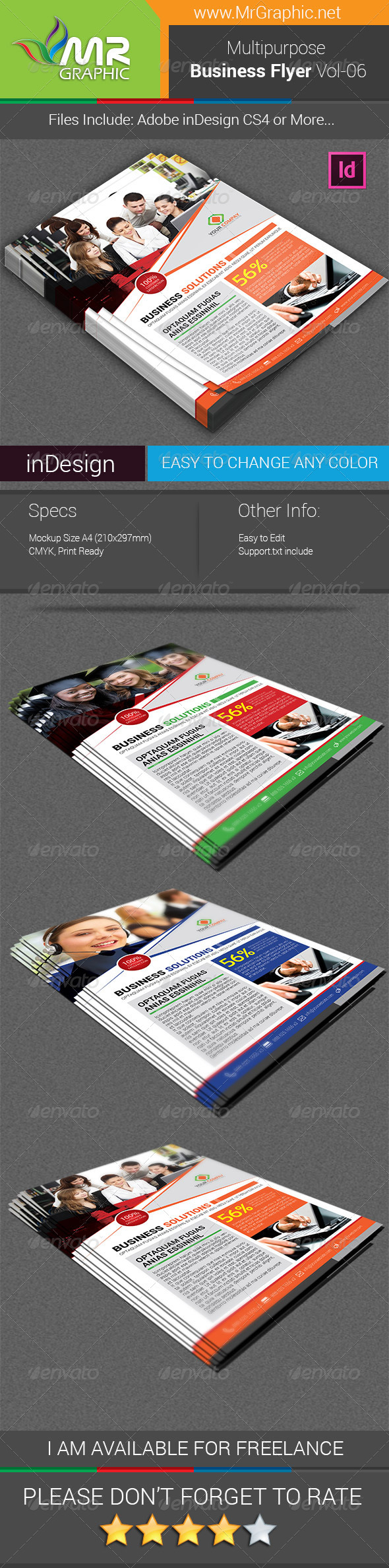 GraphicRiver Multipurpose Business Flyer Vol-06 6481064