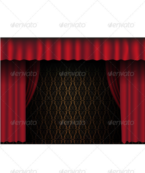GraphicRiver Red Theatre Curtain 677652