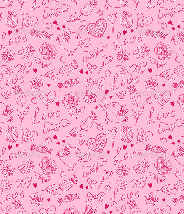 GraphicRiver Seamless Pattern for Valentine s Day 6481560