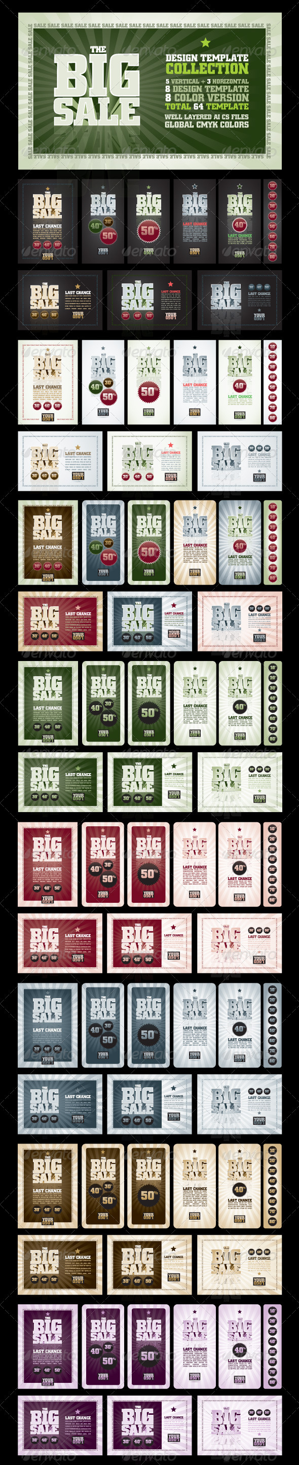 The Big Sale Design Template Collection - Commercial / Shopping Conceptual