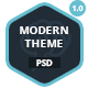 Modern Theme: Modern and Clean PSD - ThemeForest Item for Sale