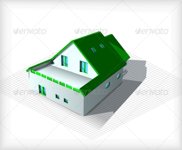 GraphicRiver Architecture Model House on Top of Blueprints 6482301