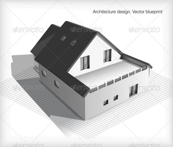 GraphicRiver Architecture Model House on Top of Blueprints 6482307