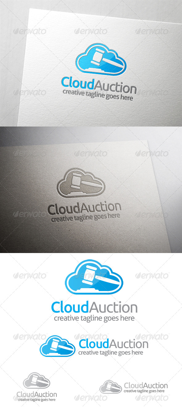 GraphicRiver Cloud Auction Logo 6482534