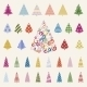 Decoration Pine Trees Celebration Set - GraphicRiver Item for Sale