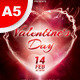 A5 Valentine's Day Party Flyer / Poster 7 in 1 - GraphicRiver Item for Sale