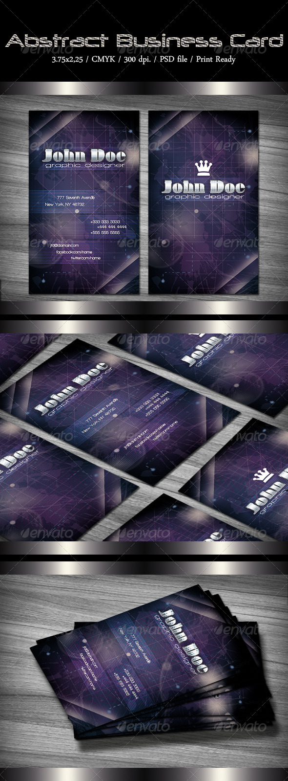 GraphicRiver Abstract Business Card 6440118