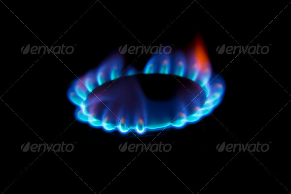 Stove Gas Blue Fire Flame Stock Photo By 7loops Photodune