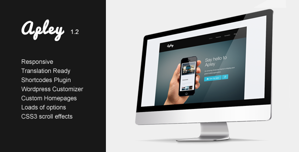 Apley - A mobile application landing page  - Technology WordPress