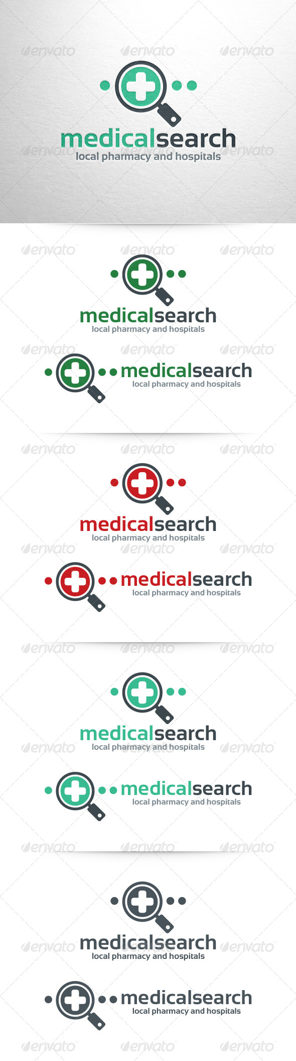 GraphicRiver Medical Search Logo Template 6483114