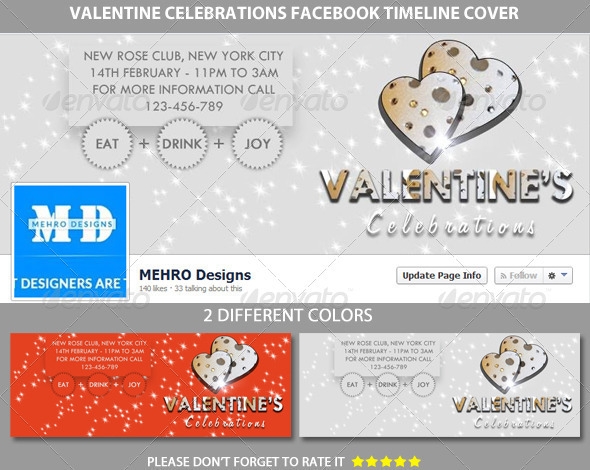 GraphicRiver Valentine Celebrations facebook Timeline Cover 6483302